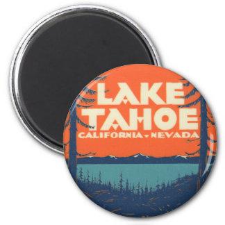 Aimant Conception vintage de décalque de voyage du lac