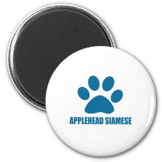 AIMANT CONCEPTIONS DE CAT SIAMOIS D'APPLEHEAD