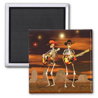 Aimant Concert de squelette de Halloween