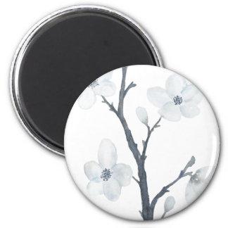 Aimant Copie blanche de toile de fleur de cerise