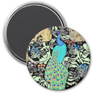 Aimant Copie, turquoise et neutres de paon de Nouveau