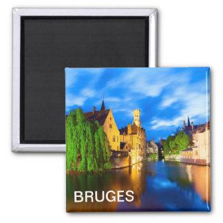 Aimant Coucher du soleil à Bruges. La Belgique