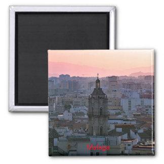Aimant Coucher du soleil au-dessus de Malaga