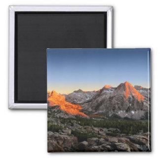 Aimant Coucher du soleil de lac/vallée evolution - sierra