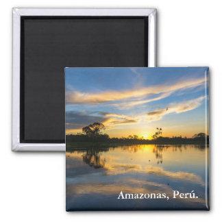 Aimant Coucher du soleil et réflexion en Amazone