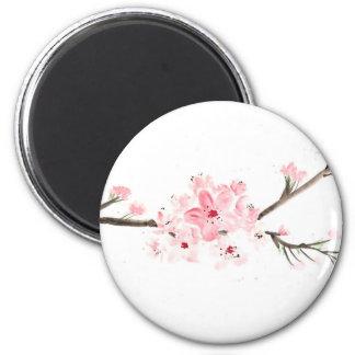 Aimant Couleur pour aquarelle de fleurs de cerisier