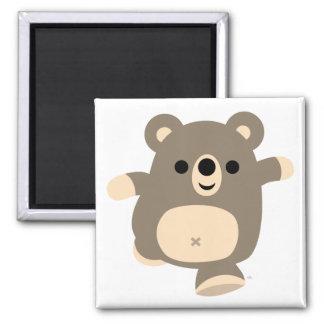 Aimant courant mignon d ours de bande dessinée