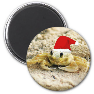 Aimant Crabe de sable dans Noël de casquette de Père Noël