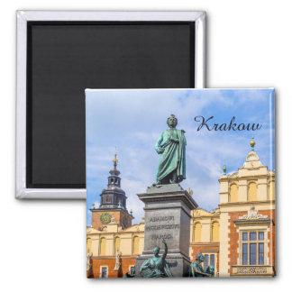 Aimant Cracovie, un monument de Mickiewicz, Pologne,