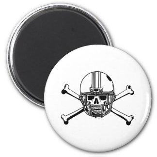 Aimant Crâne et joueur de football d'os de croix