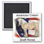 Aimant crème américain de cheval