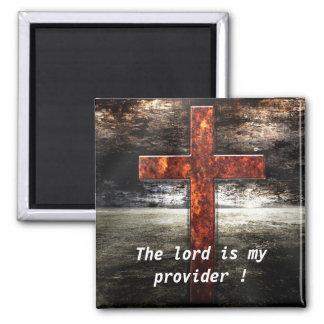 Aimant Croix de Jésus avec l'écriture sainte de bible