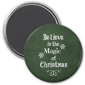 Aimant Croyez en magie de citation de Noël