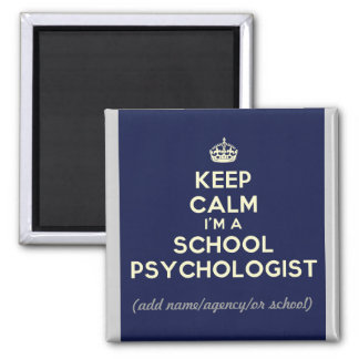 Aimant Customisé gardez le calme que je suis une école
