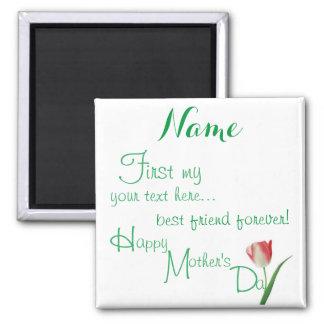 Aimant Customisé - le jour de mère heureux BFF