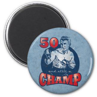 Aimant d'anniversaire de champion de boxe cinquant