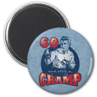 Aimant d'anniversaire de champion de boxe soixanti