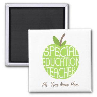 Aimant d'Apple de vert de professeur d'éducation s