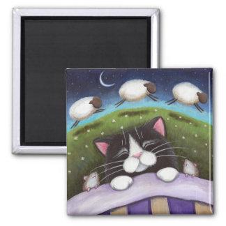 Aimant d'art de chat et de souris d'imaginaire