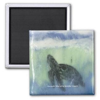 "Aimant d'art ""de tortue de mer"""
