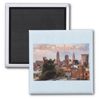 Aimant de bleu d'horizon de chat de Cleveland