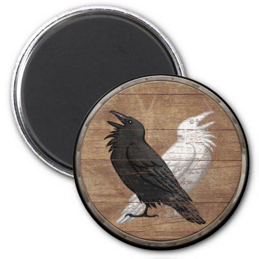 aimant de bouclier de viking ravens d 39 odin zazzle. Black Bedroom Furniture Sets. Home Design Ideas