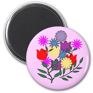 Aimant de bouquet floral de ressort