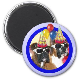 Aimant de boxeurs de joyeux anniversaire