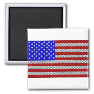 Aimant de carré de drapeau américain de boules de