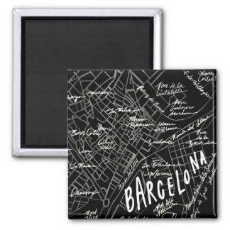 Aimant de carte de Barcelone Espagne - style