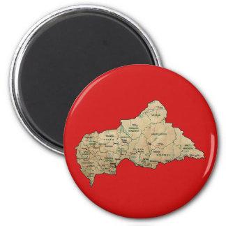 Aimant de carte de Centrafrique