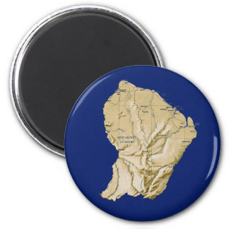 Aimant de carte de Guyane