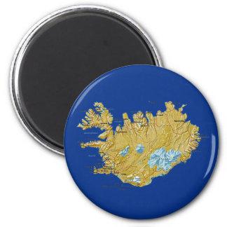 Aimant de carte de l Islande