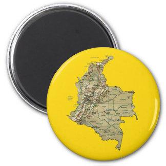 Aimant de carte de la Colombie