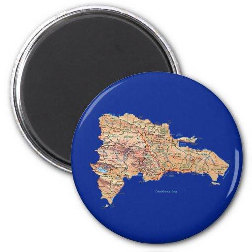 Aimant de carte de la République Dominicaine