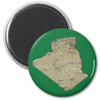 Aimant de carte de l'Algérie