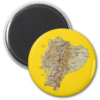 Aimant de carte de l'Equateur