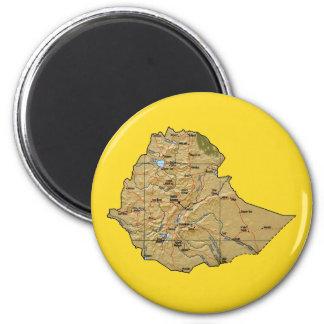 Aimant de carte de l'Ethiopie