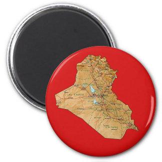 Aimant de carte de l'Irak
