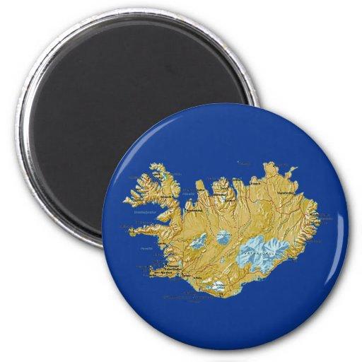Aimant de carte de l'Islande
