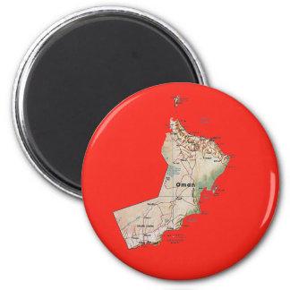 Aimant de carte de l'Oman