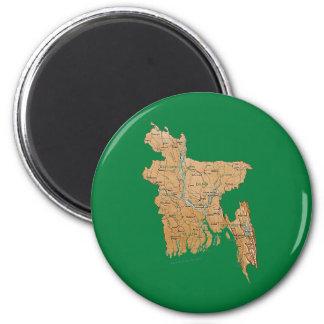Aimant de carte du Bangladesh