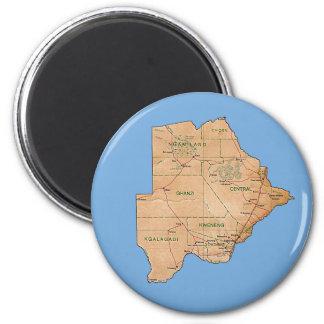 Aimant de carte du Botswana