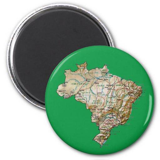Aimant de carte du Brésil