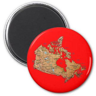 Aimant de carte du Canada