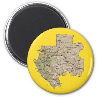 Aimant de carte du Gabon