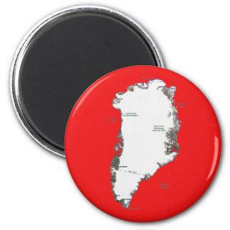 Aimant de carte du Groenland