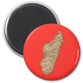 Aimant de carte du Madagascar