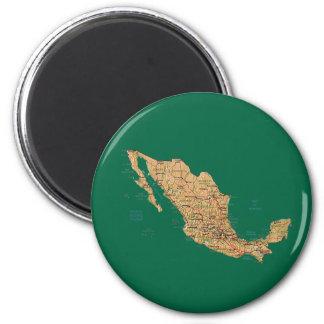 Aimant de carte du Mexique