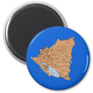 Aimant de carte du Nicaragua